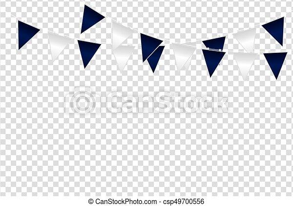 Triangular flag color ideas design vector illustration on ...