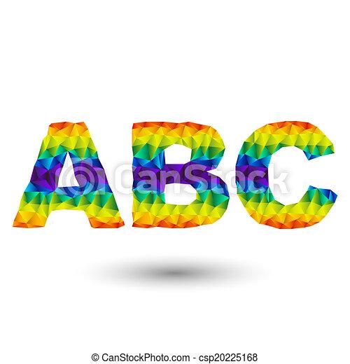 triangular letters abc - csp20225168