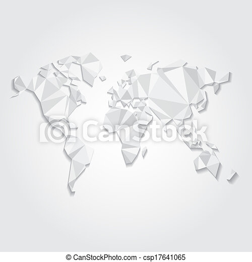 Triangular world map vector file clip art vector search drawings triangular world map vector file gumiabroncs Choice Image