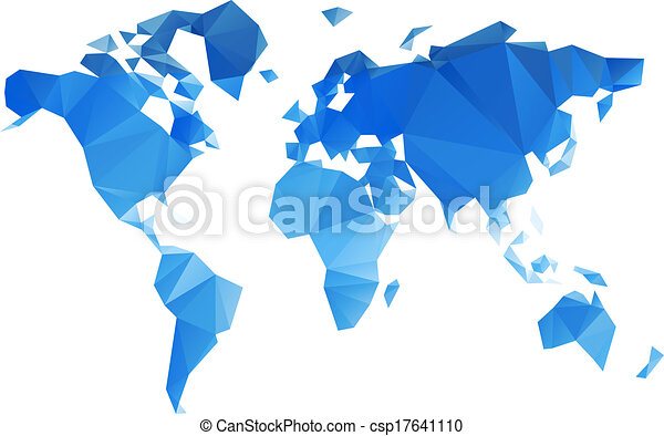 Colored world map triangle design vector clip art search triangular world map vector file gumiabroncs Gallery