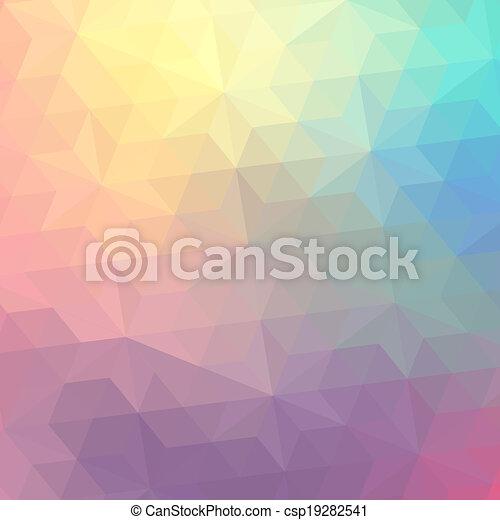 triangulo, coloridos, banner., padrão, shapes., text., hipster, retro, fundo, lugar, geomã©´ricas, seu, mosaico - csp19282541