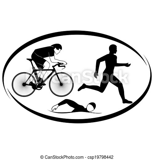 triathlon summer kinds of sports illustration on a sports eps rh canstockphoto com triathlon clip art images triathlon images clipart