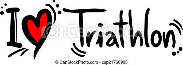 triathlon love creative design of triathlon love rh canstockphoto com triathlon logo clipart triathlon logo clipart