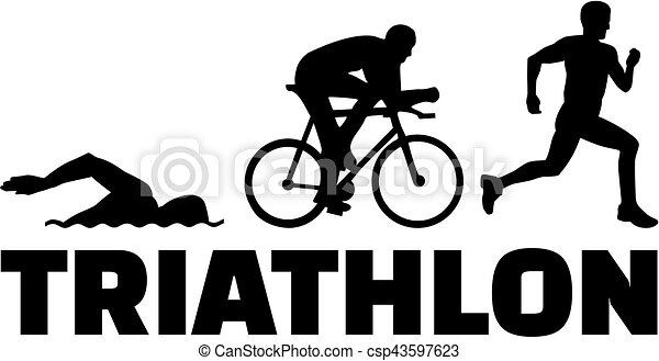 triathlon silhouettes with word vector illustration search clipart rh canstockphoto ca triathlon images clipart triathlon images clipart free