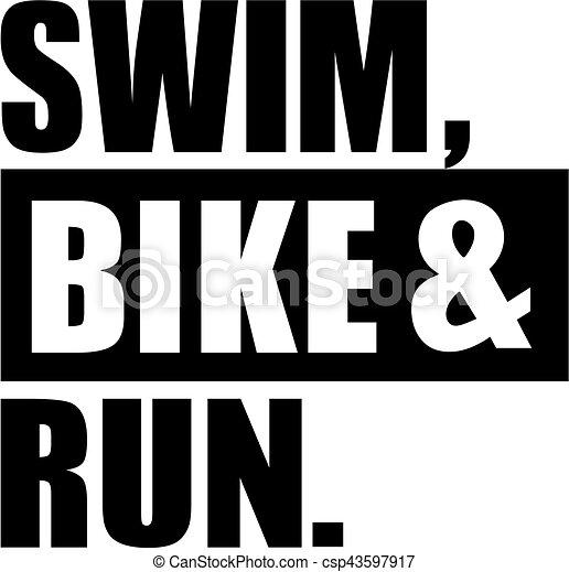 Triathlon swim bike and run.   CanStock