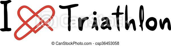 El icono del amor de Triatlón - csp36453058