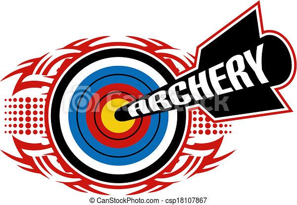 tribal archery design - csp18107867