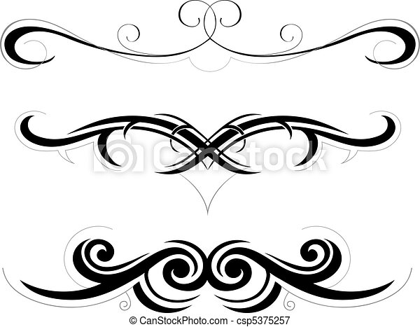tribal art illustration set of decorative shapes rh canstockphoto com tribal vector clip art tribal vector free