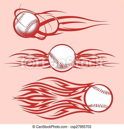Tribal Baseballs - csp27955703
