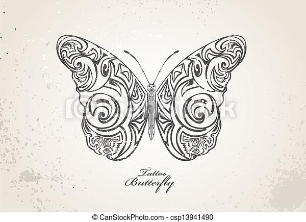 Tribal Butterfly Clip Art at Clker.com - vector clip art online, royalty  free & public domain