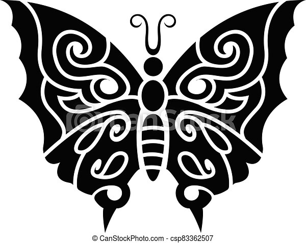 Tribal Butterfly Cross Tattoos - Tribal Butterfly Tattoo Designs - Free  Transparent PNG Clipart Images Download