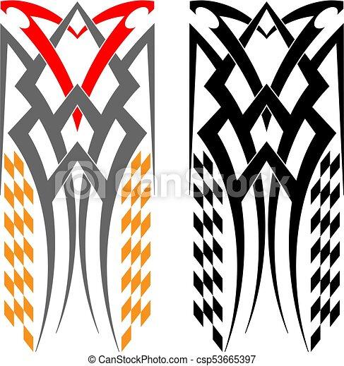 Tribal car decal csp53665397
