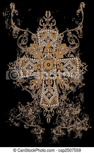 tribal cross design - csp2507559