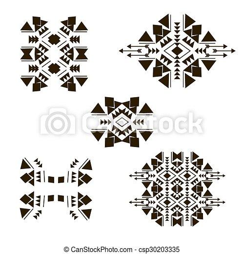 Tribal, elementos, horizontal. Elementos, plano de fondo, africano ...