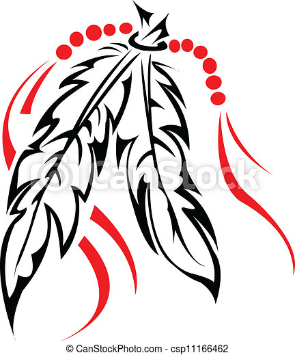 tribal, feathers. - csp11166462