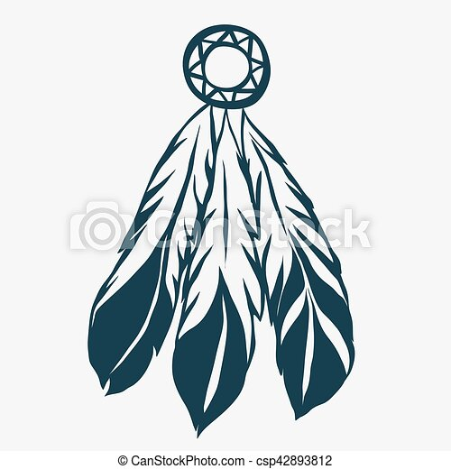 tribal feathers dreamcatcher vector tribal feathers vector clip rh canstockphoto com