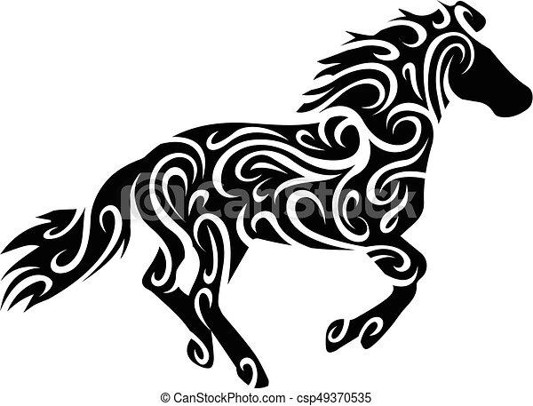 tribal horse - csp49370535