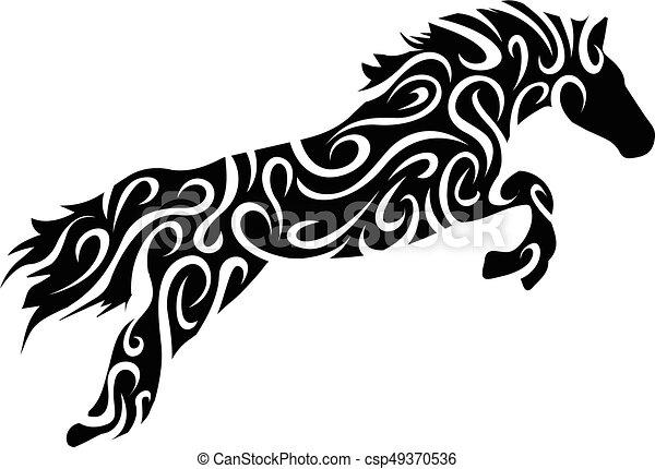 tribal horse - csp49370536