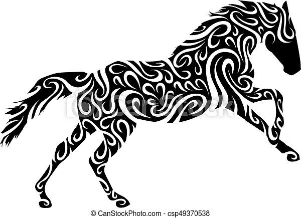 tribal horse rh canstockphoto com horse vector graphic horse vector artwork