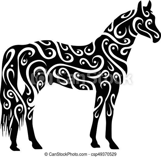 tribal horse - csp49370529