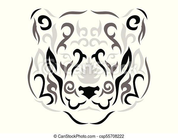 Tribal Ilustracao Pantera Ornamental Pantera Tribal