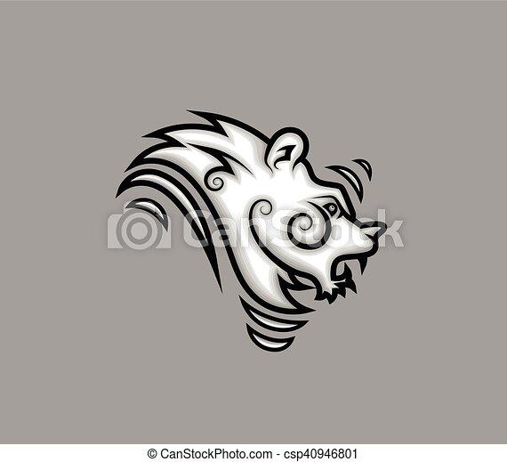 Tribal Lion Tattoo Design - csp40946801