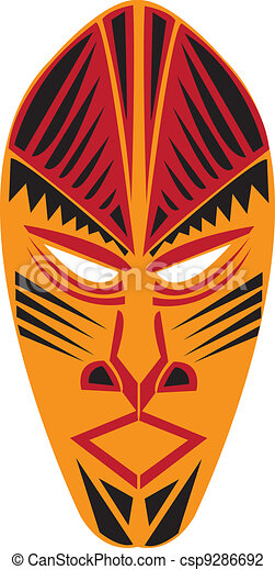 african tribal mask vector illustration search clipart