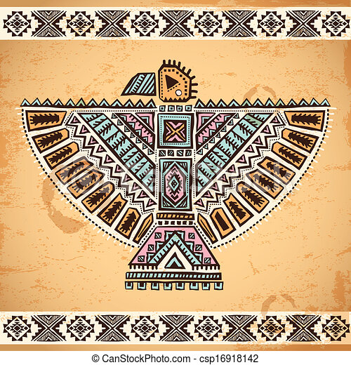 Tribal Native American Eagle Symbols Tribal Vintage Native American