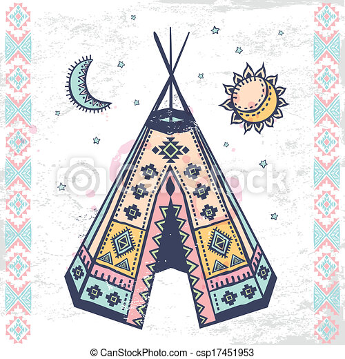 Tribal Native American Set Of Symbols Tribal Vintage Native