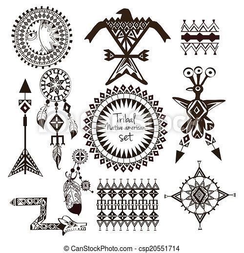 Tribal native american set - csp20551714