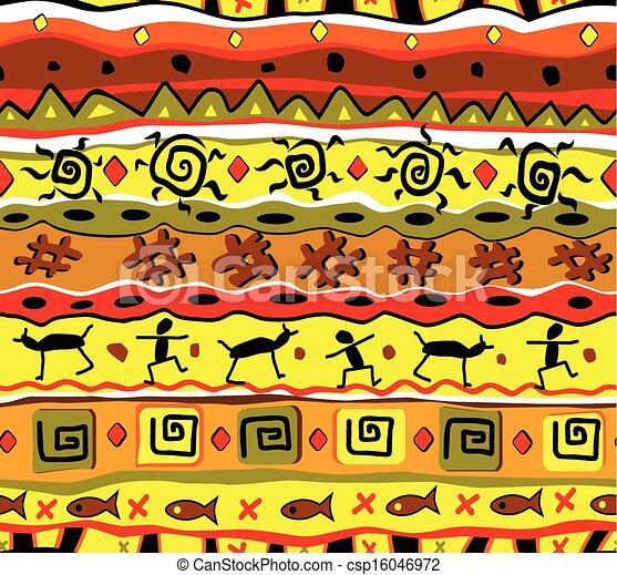 tribal pattern  - csp16046972