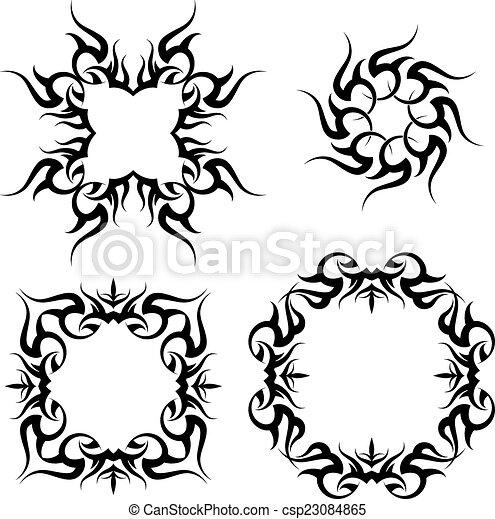 Tribal Tattoo Design - csp23084865