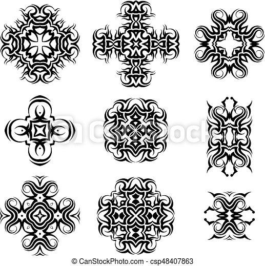 Tribal Tattoo Design - csp48407863