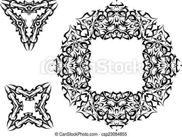 Tribal Tattoo Design - csp23084855