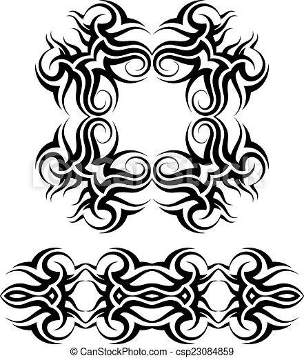 Tribal Tattoo Design - csp23084859
