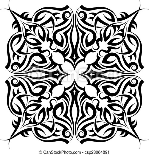 Tribal Tattoo Design - csp23084891
