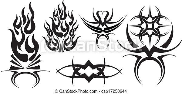 Tribal tattoo design - csp17250644