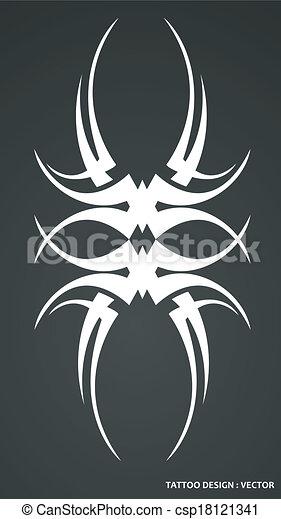 Tribal tattoo design - csp18121341