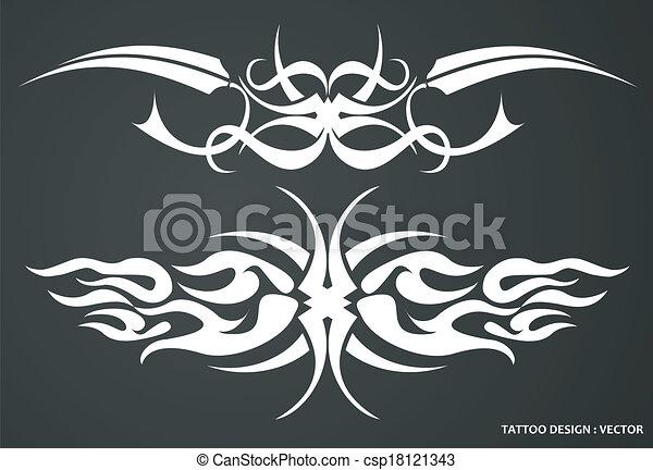 Tribal tattoo design - csp18121343