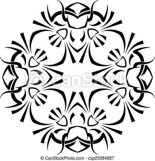 Tribal Tattoo Design - csp23084887