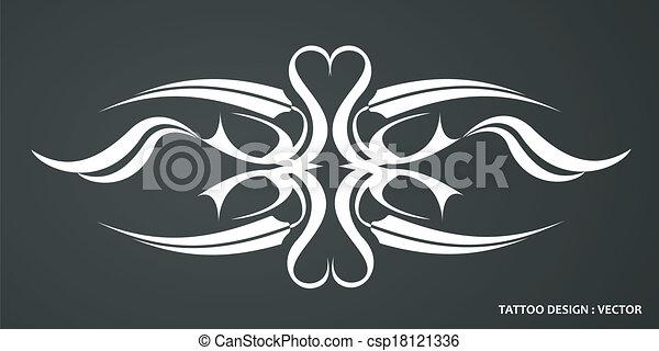Tribal tattoo design - csp18121336