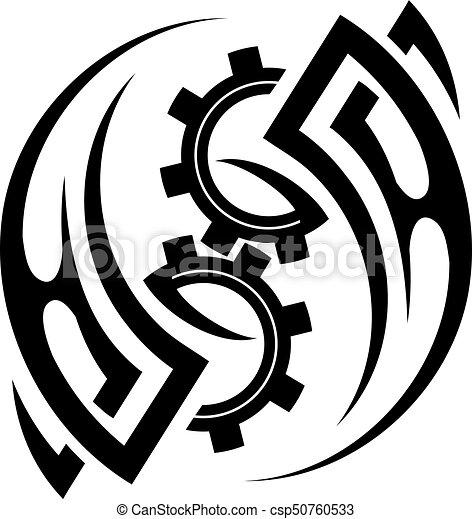 Tribal tattoo design - csp50760533