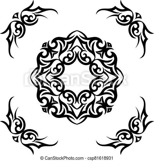 Tribal Tattoo Design - csp81618931