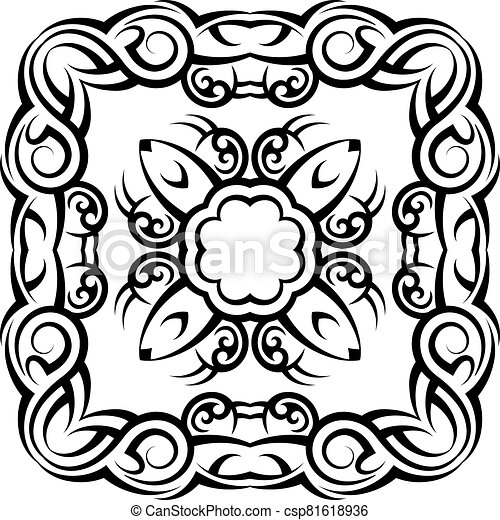 Tribal Tattoo Design - csp81618936