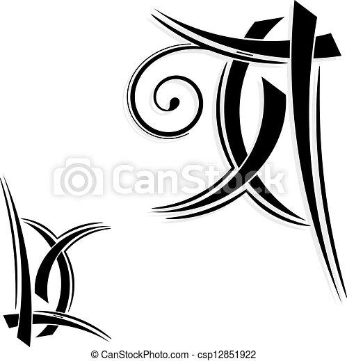 Tribal Tattoo Design - csp12851922