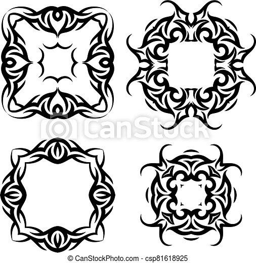 Tribal Tattoo Design - csp81618925