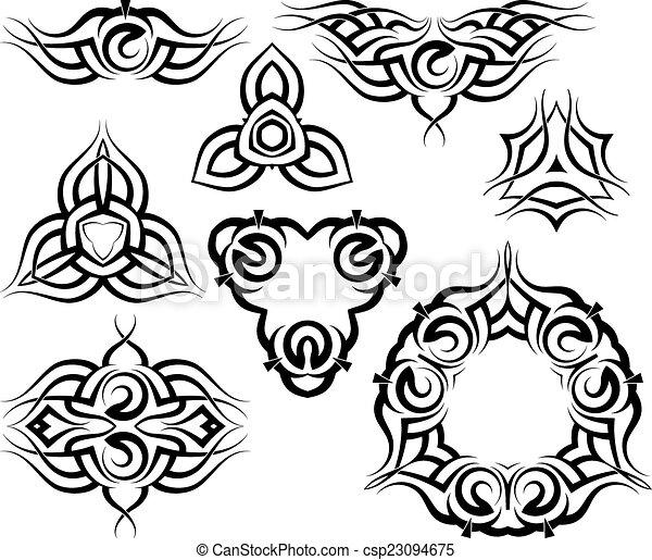 Tribal Tattoo Design - csp23094675