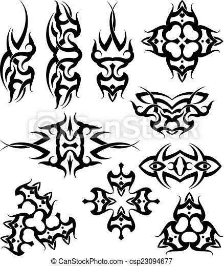 Tribal Tattoo Design - csp23094677