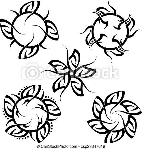 Tribal Tattoo Design - csp23347619