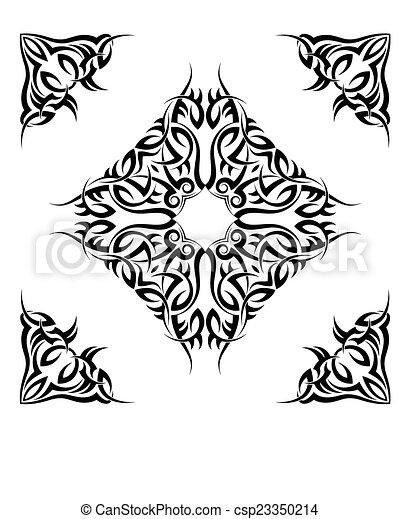 Tribal Tattoo Design - csp23350214
